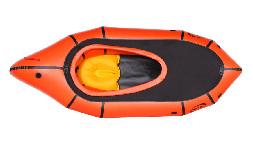 nortik TrekRaft - Barca - con capucha naranja/negro